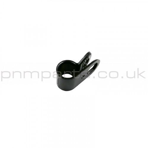 P CLIP 6mm BLACK PLASTIC CLAMP